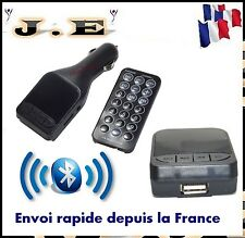 TRANSMETTEUR FM MP3 BLUETOOTH VOITURE SANS FIL CHARGEUR ALLUME CIGARE MOBILE
