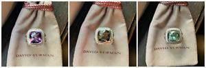 $1,050 David Yurman Sterling Silver 925 11mm Albion Ring W Diamonds Variations
