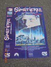 """Affiche / Poster de Cinéma / Stephen KING / FILM  """"SIMETIERRE"""" ENVIRON 80CMX60CM"""