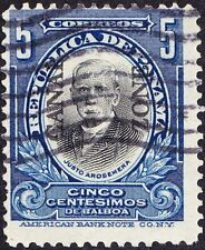 Canal Zone - 1909 - 5 Cents Deep Blue & Black Overprinted Arosemena Issue # 33