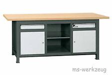 Jordan Metec 22633/84622 Werkbank mit 2 Stahlblechschränken und Regalteil