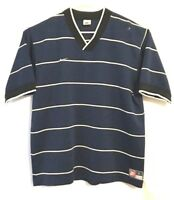 Nike Football Soccer Jersey Shirt Size L Blue White Stripes