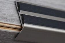 120cm INOX  aluminium Treppenprofil mit Gummi Treppenkantenprofil Treppenwinkel