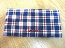 Longaberger Blue Ribbon Plaid Fabric  Check Book NEW