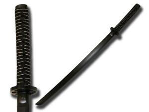 """Set of 2 40/"""" Black Red Wine Color Wooden Bokken Practice Sword Training Samurai"""