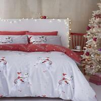 Catherine Lansfield Christmas Unicorn Easy Care Quilt/Duvet Cover Set Grey