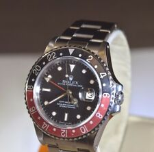 1986 Rolex GMT Master II Oyster  16760 Red Black Men's SS Watch (125. Grams)
