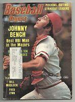 Johnny Bench Baseball Digest Joe Rudi 1975