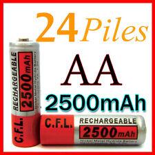 24 PILES ACCUS RECHARGEABLE AA NI-MH 2500mAh 1.2V LR06 MIGNON - DIRECT DE FRANCE