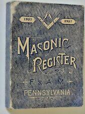 1957 Book Masonic Register of F&AM for Pennsylvania Manning's Freemasons Lodges