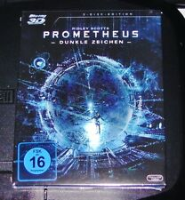 PROMETHEUS DUNKLE SIGNOS BLU-RAY 3D + DOBLE BLU-RAY 2D NUEVO Y EMB. ORIG.