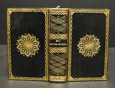 Schwarzbrauner Maroquinband um 1825 mit  Vergoldung – Goldschnitt - Bibel