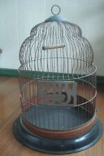 Antique Hendryx Bee Hive Bird Cage With Base