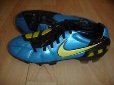 NIKE TOTAL 90 LASER FG BLUE/YELLOW FOOTBALL BOOTS US6.5 UK6 EUR39 CM24.5