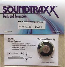 "Soundtraxx 810153 1"" Round Speaker (28mm) 8 ohm 1 Watt  MODELRRSUPPLY-com"