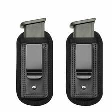 2-Pack Pouches Holders Universal Holster IWB Clip 9mm .45 Ammunition & Magazine
