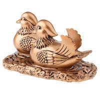 Feng Shui Mandarin Ducks for Love and Romance Figurine Statue Decor Copper