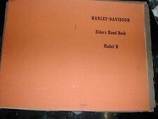 Harley Davidson Model K Riders Hand Book Reprint NOS