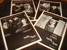 TALK TO HER 4 Oscar ads Javier Cámara, Geraldine Chaplin, Pedro Almodóvar