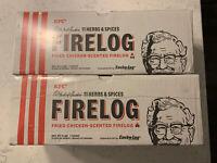 2 KFC Limited Edition 11 Herbs Spices FIRE LOG EnviroLog KENTUCKY FRIED CHICKEN