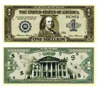 1000000 $ Million Dollars The First Bank  Unc. / 691347## Fantasy Banknote,