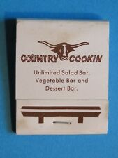 1980s Matches Matchbook ~ COUNTRY COOKIN Restaurants, Virginia Chain Since 1981