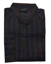 Grigio Perla Brown Striped Cotton Pajama Top S