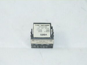 General Electric SRPK800A500 Spectra Rating Plug 500 amp NEW