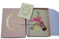 New LADUREE Paris Keychain Ring Macaron Eiffel Tower Pink w/ Gift Box MARKS JP