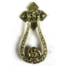 Traditional Antique Victorian Style Deep Loop Solid Cast Brass Door Knocker