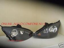 Ford Focus ST 170 New BLACK Headlight Headlamps PAIR HEAD LIGHTS LAMPS Halogen