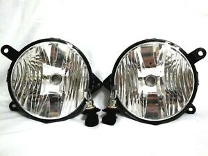Grille Mounted Driving Fog Light Lamps w/Bulbs One Pair Fit 2010-2012 Mustang GT