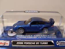 2006 Porsche 911 turbo,Custom Shop, MAISTO 1:64 , NUEVO, emb.orig