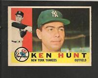 1960 Topps # 522 Ken Hunt NM-MT