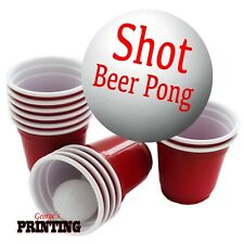 Shot Beer Pong - Red Cups Ball Balls Drinking Games Game Shots Mini Little Funny