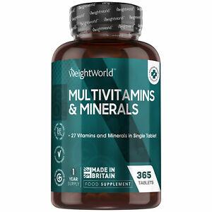 Vitamine & Mineralien A-Z - 365 Tabletten - Mit 27 Multivitamine & Mineralstoffe