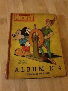 Album Mickey n°4 Le journal de Mickey du n°79 a 104. Walt Disney Année 1935