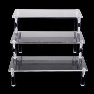 Combination 3-Tier Acrylic Display Shelf for Kitchen Pantry or Bathroom