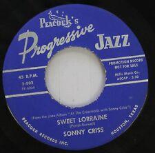 Jazz 45 Sonny Criss - Sweet Lorraine / I'Ve Got It Bad On Peacock'S Progressive