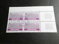 FRANCE BLOC timbres 2532 EUROPA CEPT, oblitéré 1988 cachet rond, QUARTINA