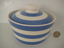 T G GREEN CLOVERLEAF CORNISHWARE CORNISH BLUE ENGLAND ROUND LIDDED BUTTER DISH