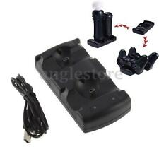 For Sony PS3 Controller /Move ControllerDual USB Charger Charging Dock Station