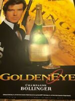 James Bond 007 Poster Bollinger Champagne 1995 Promo Display GOLDENEYE