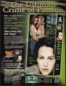 JADED__Original 1999 Trade Print AD / ADVERT__Carla Gugino__Rya Kihlstedt