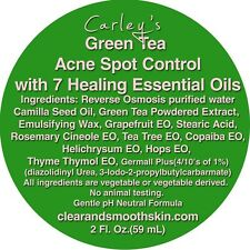 Acne Spot Treatment, Natural. Green Tea & 7 Therapeutic Essential Oils.