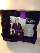 Angel Wrap Plush Throw Blanket With Pockets  NEW    Color Purple
