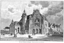 Der neue Bahnhof  in Vlissingen Holzstich  1894 Niederlande