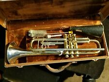 Vintage Art Deco Chris Kratt Hüttl Brass Trumpet For Refurbishing / Parts