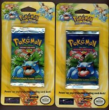Lot of (2) 1999 WOTC Pokemon Booster Pack Unopened Sealed - Possible Shadowless
