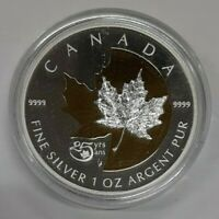 2013 Canada Silver $5 Coin Maple Leaf 25th Anniv Issue Gem Proof in Capsule